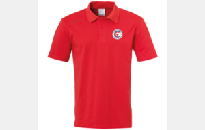 Polo Essential rouge UhlSport saison 2019/2020