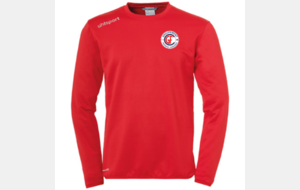 Sweat col rond rouge UhlSport saison 2019/2020